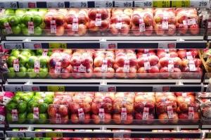 Supermarkt-Aufkleber