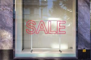 Sale Fensteraufkleber