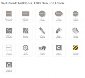 Aufkleber-Arten Kaufsticker.de